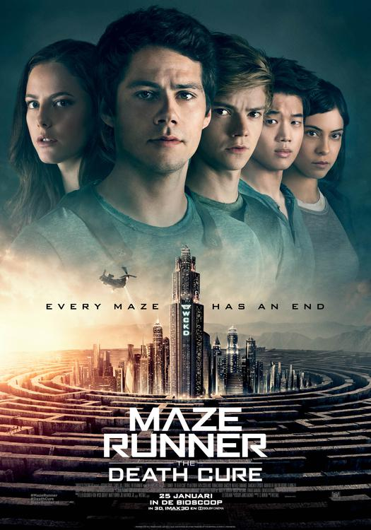Maze Runner: The Death Cure winactie filmposter
