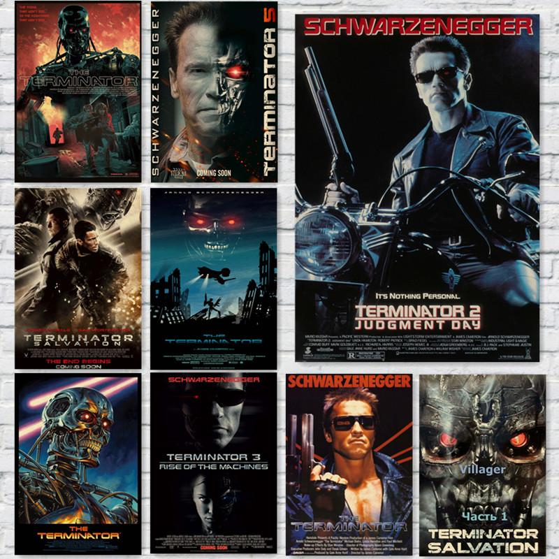 The-Terminator-Vintage-Movie-Posters-Wall-Stickers-Home-Decoration-home-art-Brand-MO28